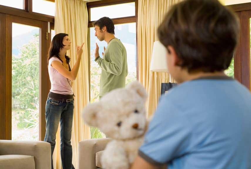 Parents quarrel